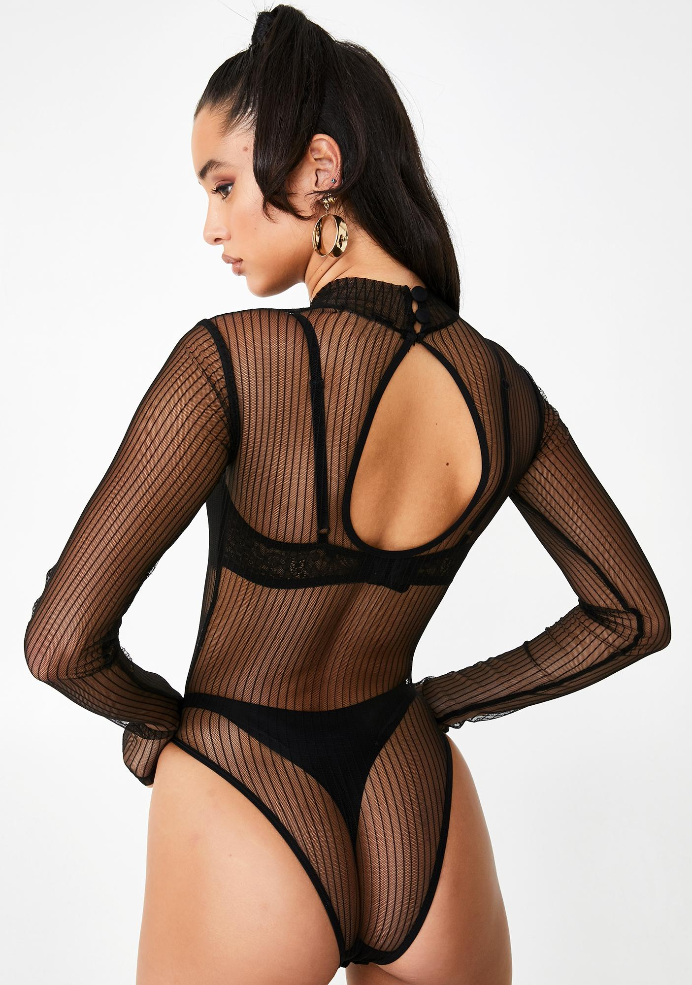 Poster Grl Bad Manners Sheer Bodysuit