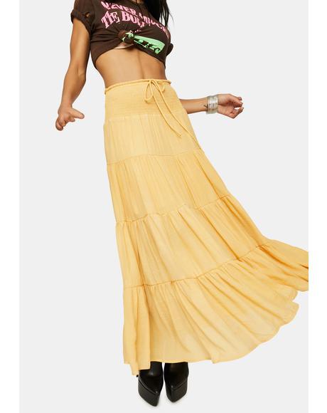 Amber Take It Easy Smocked Maxi Skirt
