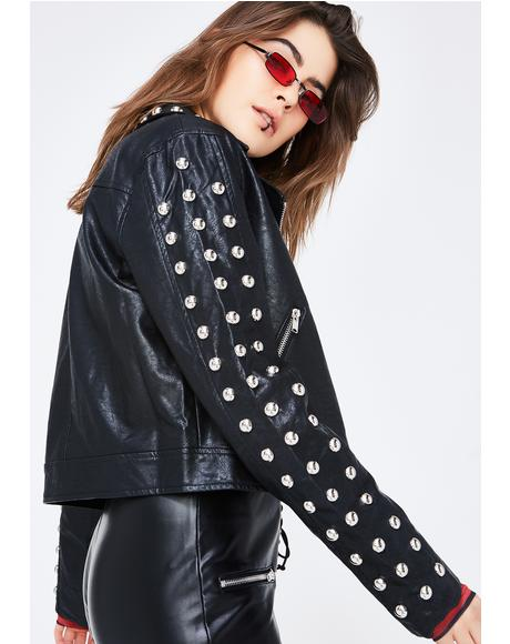 Never Cared Studded Jacket