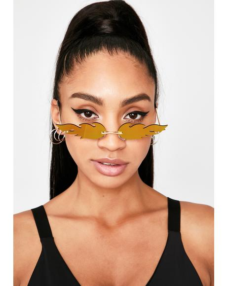 Glowin' Fire Tracks Reflective Sunglasses