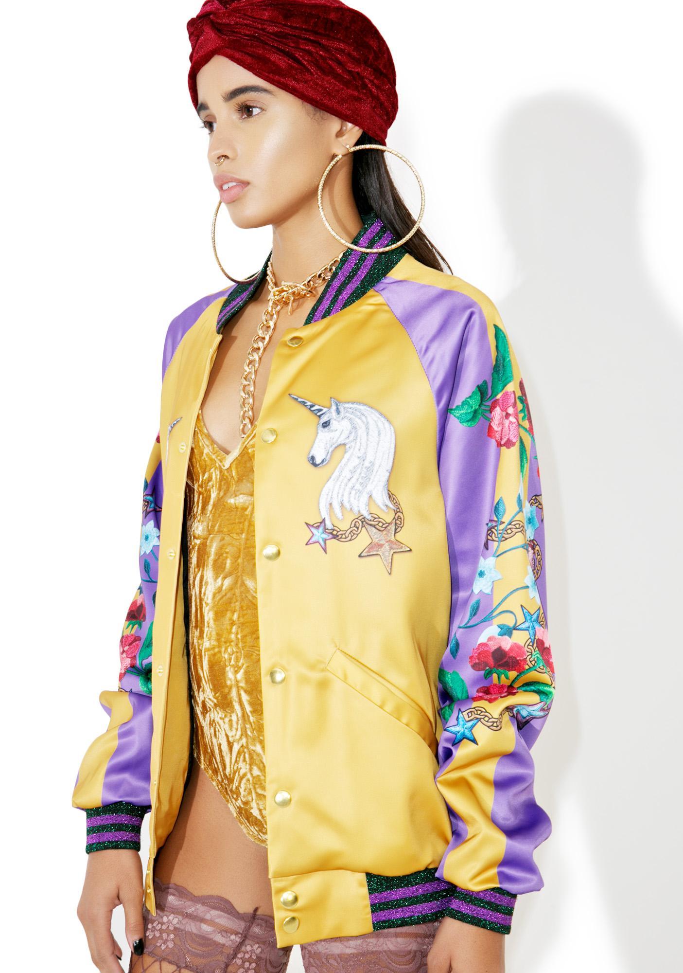 Jaded London Unicorn Souvenir Jacket