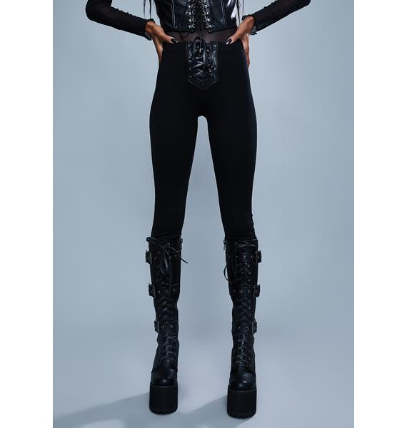 Widow Mortal Enemy Lace Up Leggings