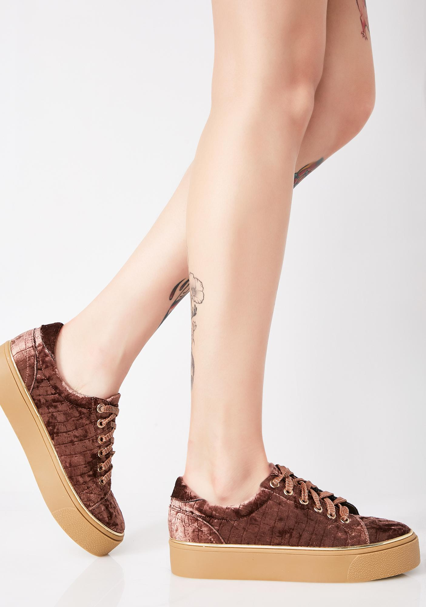Cocoa Fuzz Buzz Platform Sneakers ...
