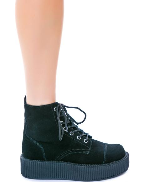 Suede 7 Eye Mondo Creeper Boots