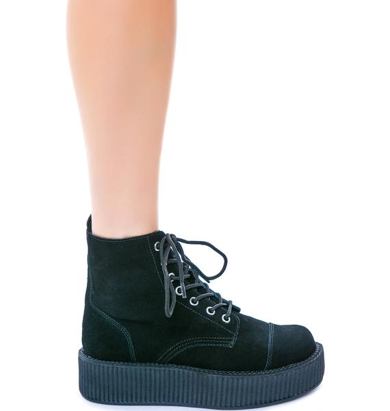 T.U.K. Suede 7 Eye Mondo Creeper Boots
