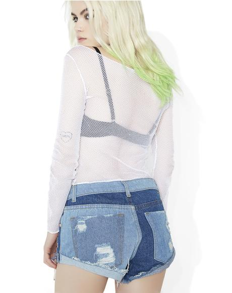 Piece By Piece Patchwork Shorts