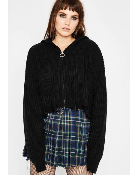 Dark Everything Sucks Crop Sweater