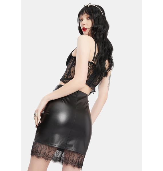 Behaving Badly Lace Skirt