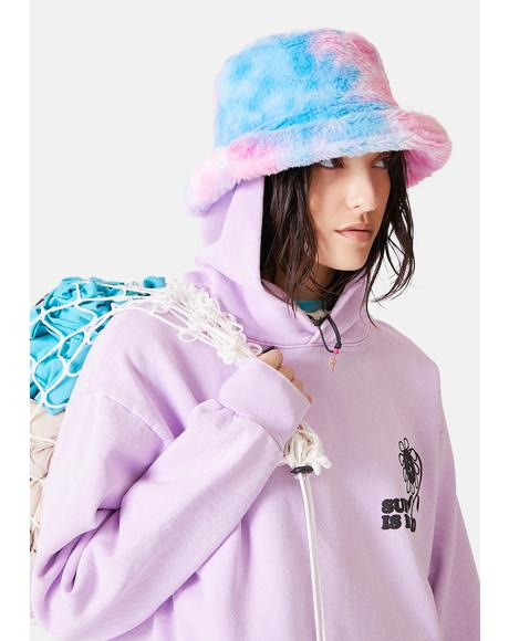 Candy Treats Tie Dye Fuzzy Bucket Hat