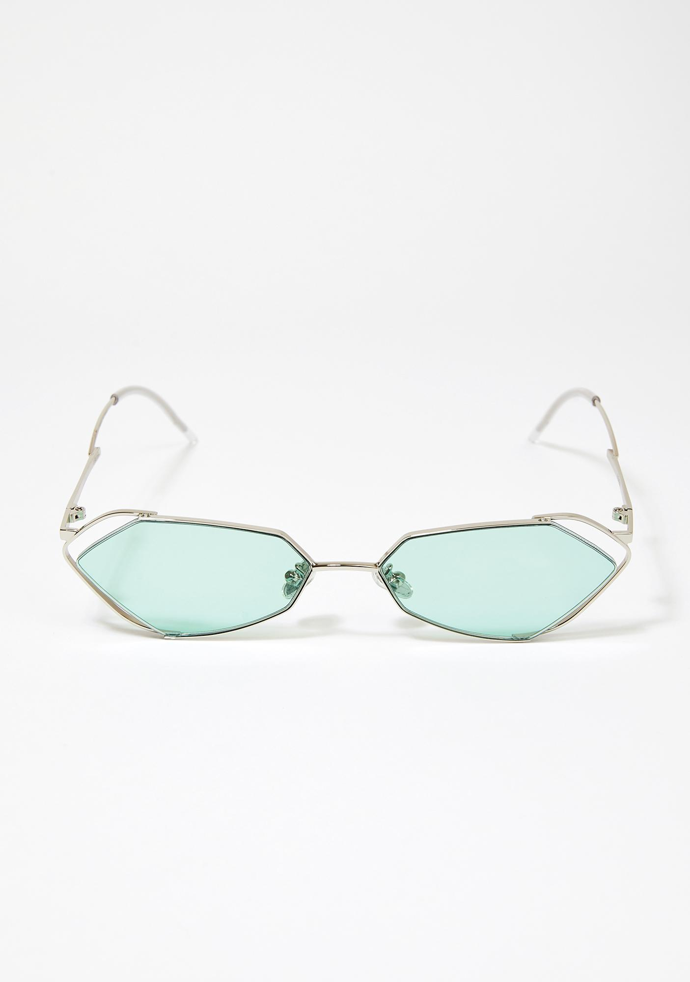 I-SEA Fever Silver With Mint Lens Sunglasses