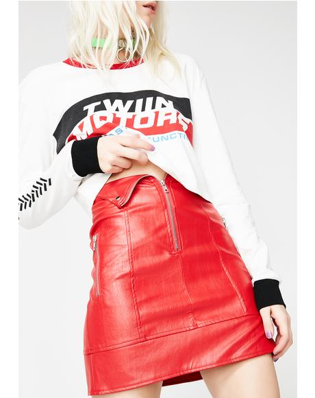 Overtake Biker Skirt
