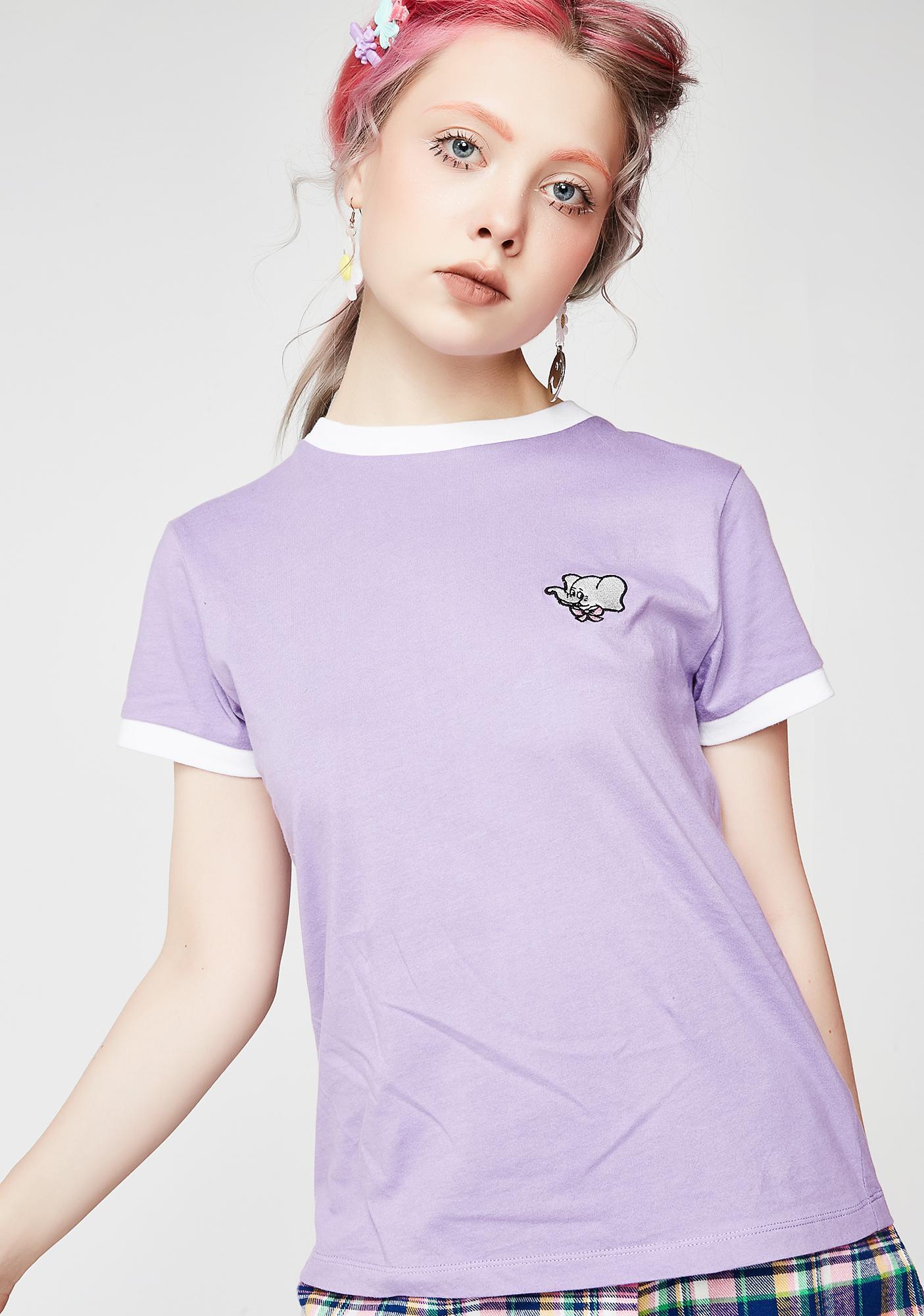 Lazy Oaf Elephant Head Purple Tee