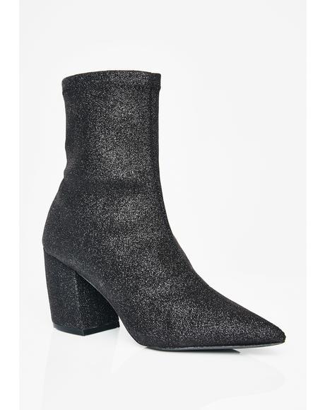 Glitterific Sock Booties