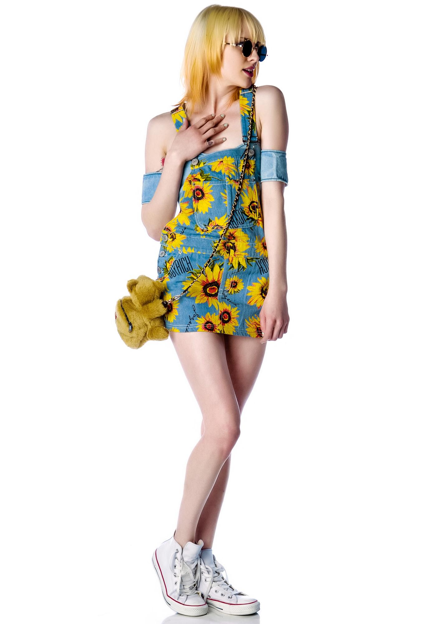 Joyrich Sun Flower Garden Overall Skirt