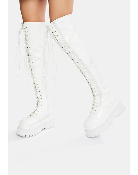Electric Angel Knee High Boots