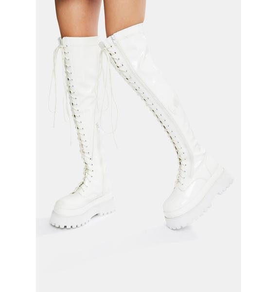 Current Mood Electric Angel Knee High Boots