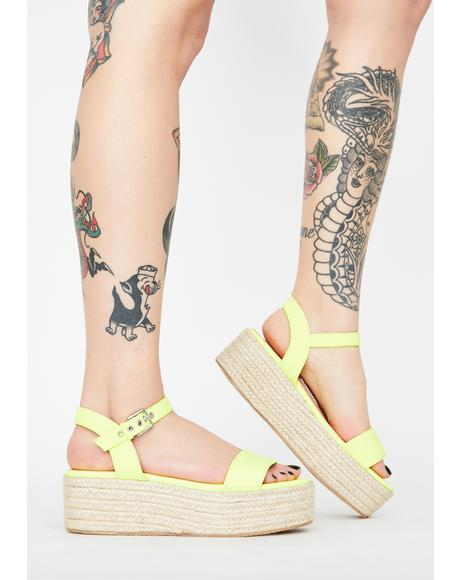Bright Sunny Daze Platform Sandals