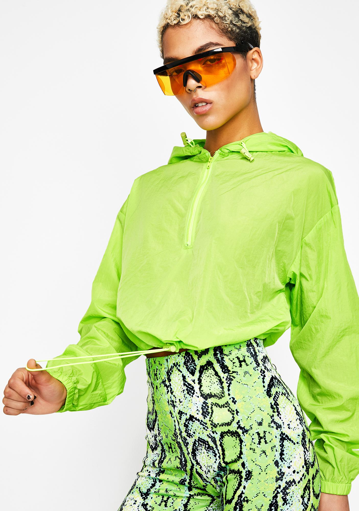 Lime Sporty Sis Cropped Jacket