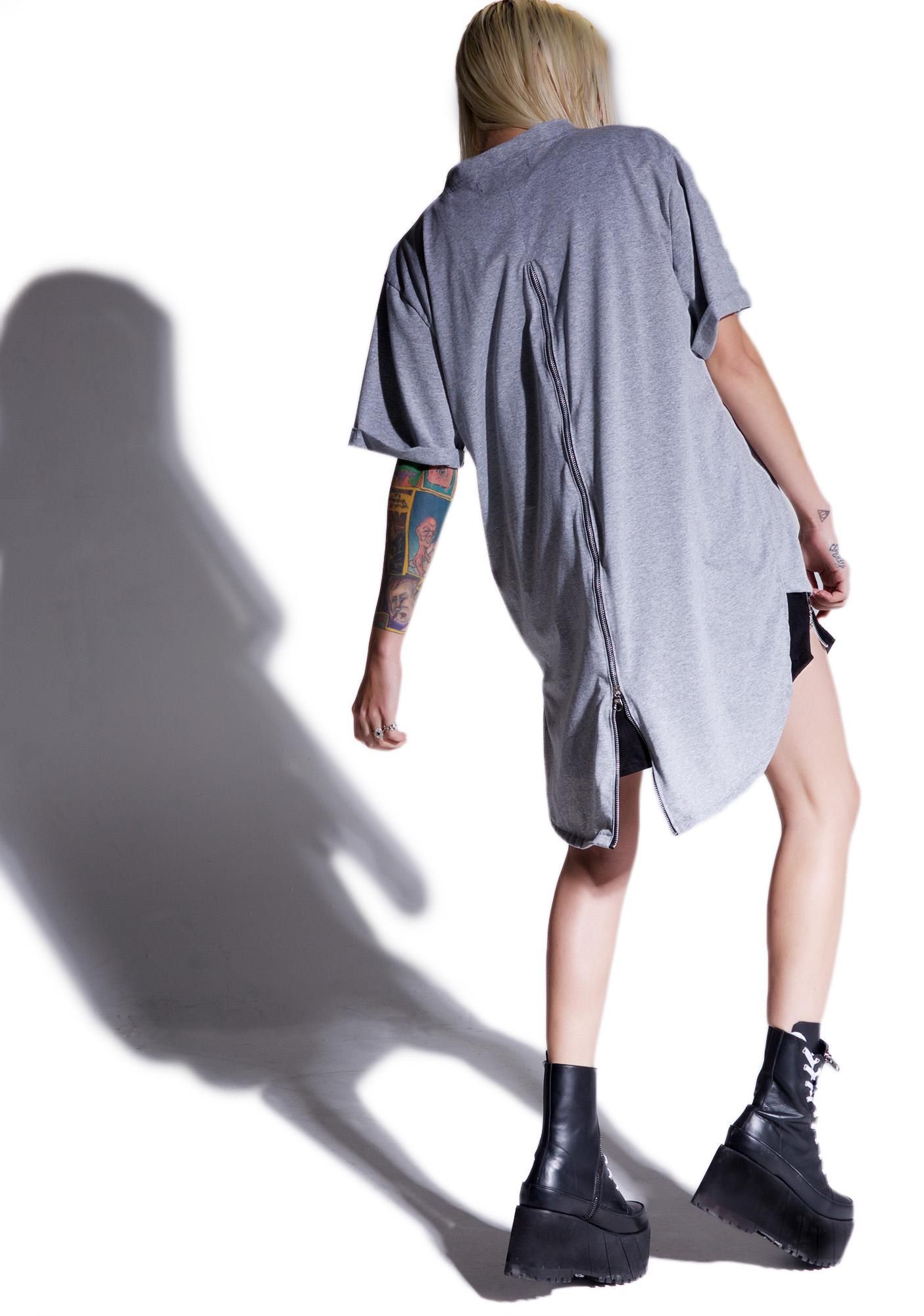 MNML Weaponized Zipper Back Tee