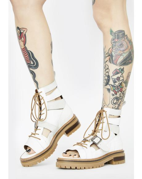 White Mandi Boot Sandals