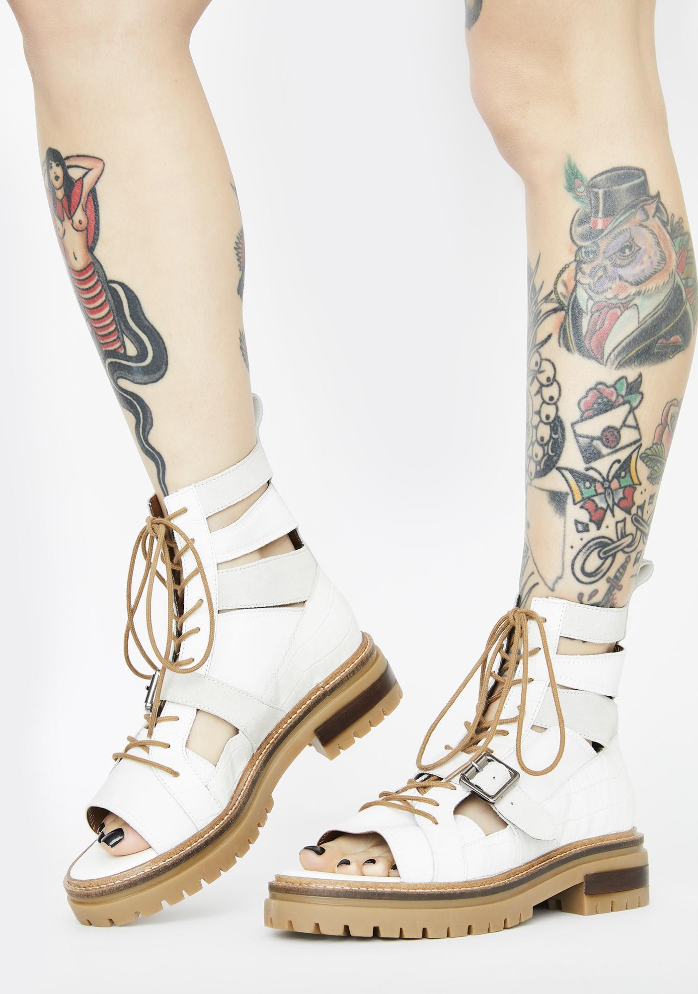 ultima moda scaricare la consegna dettagli per Free People White Mandi Boot Sandals | Dolls Kill