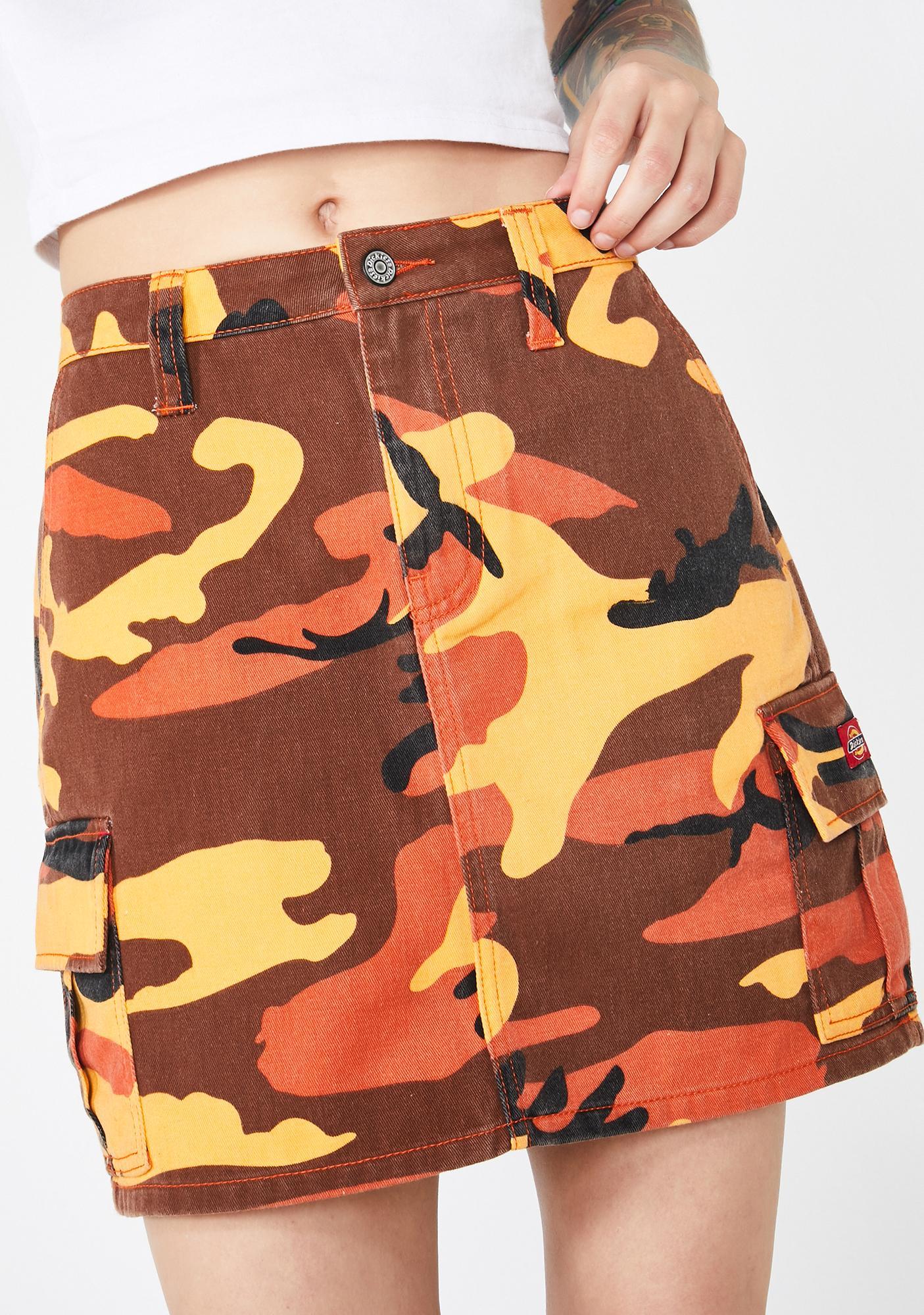 Dickies Girl Slash Pocket Camo Cargo Skirt