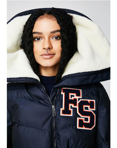 FENTY PUMA By Rihanna Funnel Collar Quilted Jacket