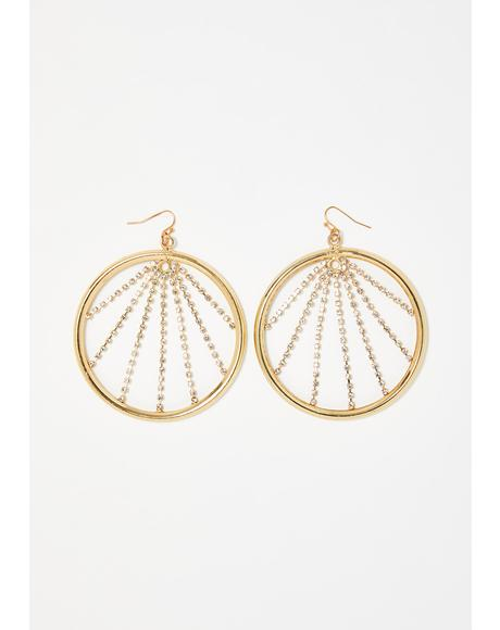 Moonbeam Bling Hoop Earrings
