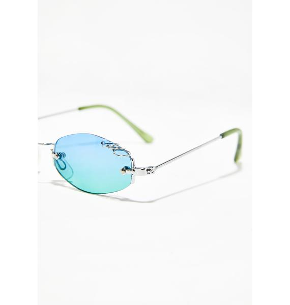 Replay Vintage Sunglasses Sky Clout Queen Pierced Sunglasses