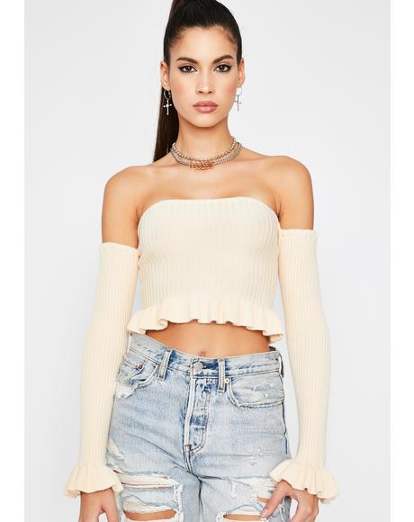 Purely Off Topic Crop Sweater