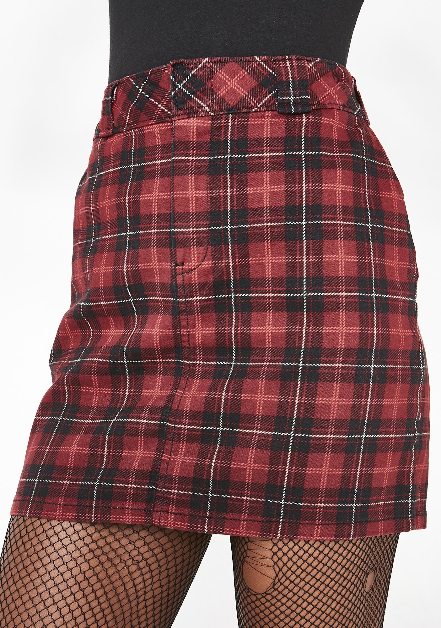 76668c8a6e1a69 Dickies Girl Plaid Mini Skirt | Dolls Kill