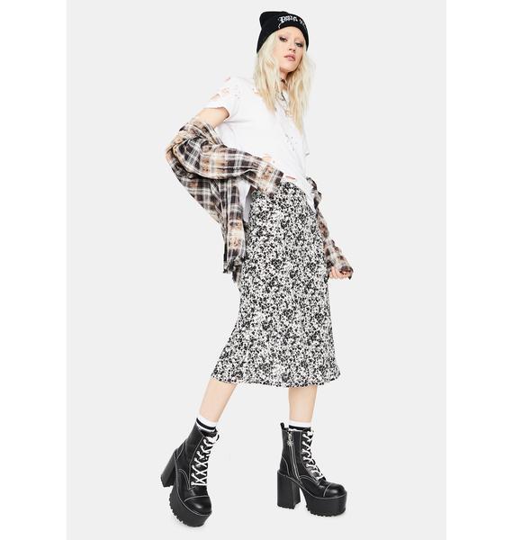 High Praise Floral Midi Skirt