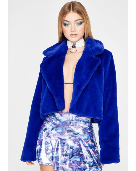 Royal Lux Attitude Fuzzy Jacket
