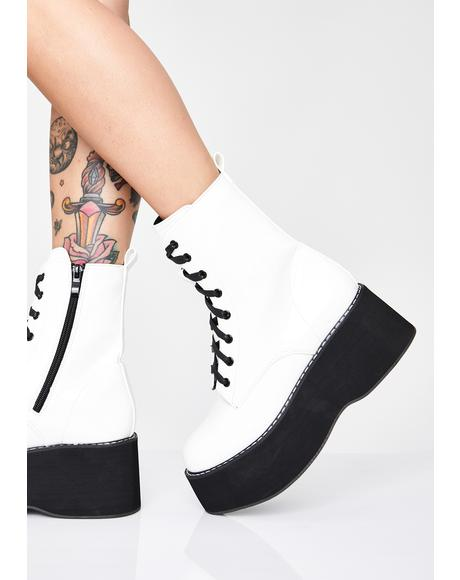 Frosted Arkon Ankle Boots