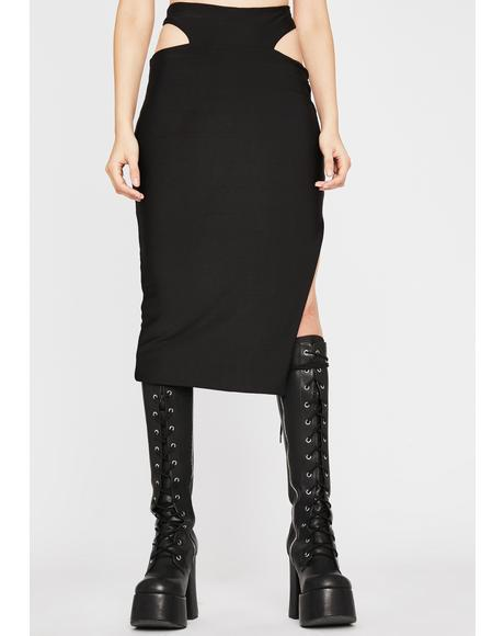 Midnight Ridin' Midi Skirt