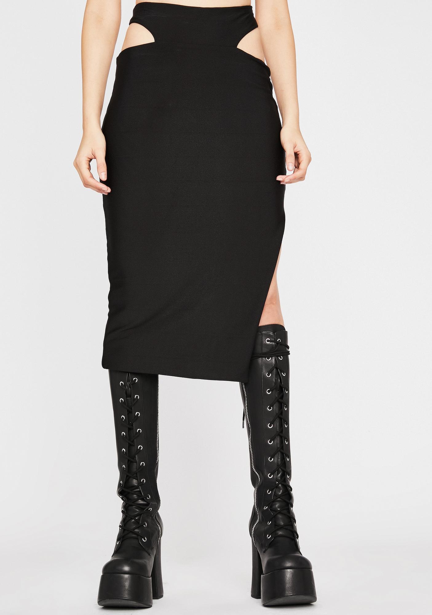 Midnight Ridin' Midi Skirt