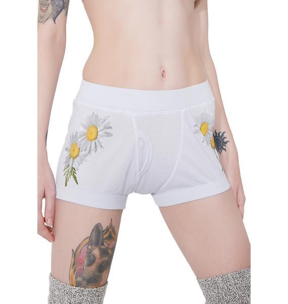 Wildfox Couture Daisy High Waist Boy Shorts