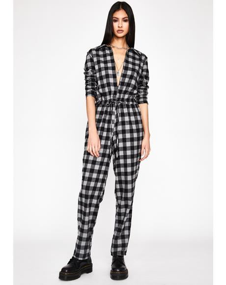 Good To Go Plaid Jumpsuit