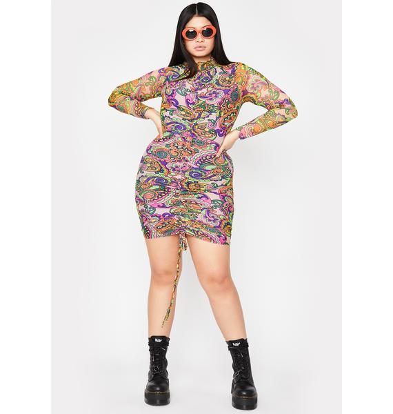 She's Feelin' Groovy Mini Dress