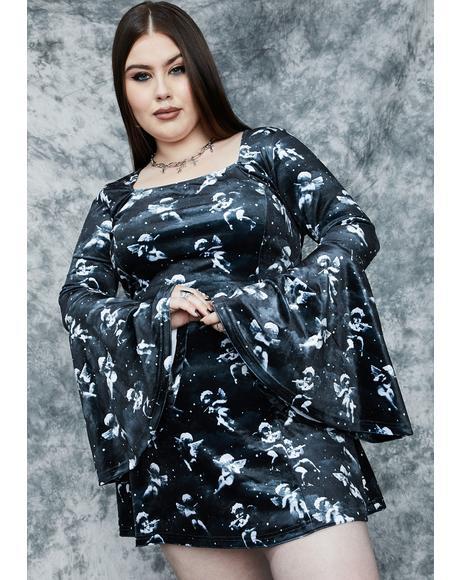 Her Unholy Spirit Velvet Mini Dress