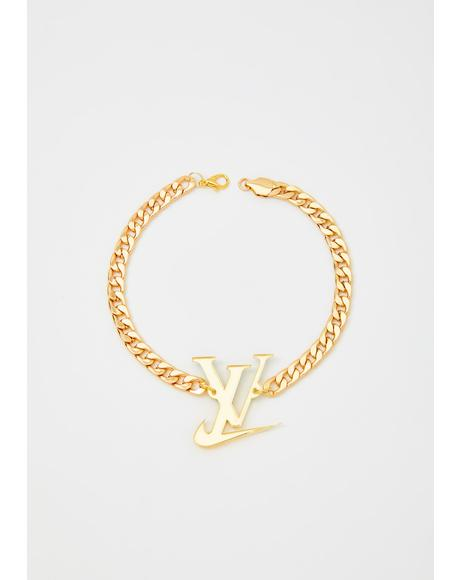 Gold Sporty Luxe Anklet