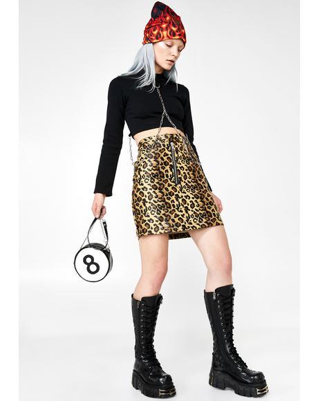 Lynx Leopard Skirt