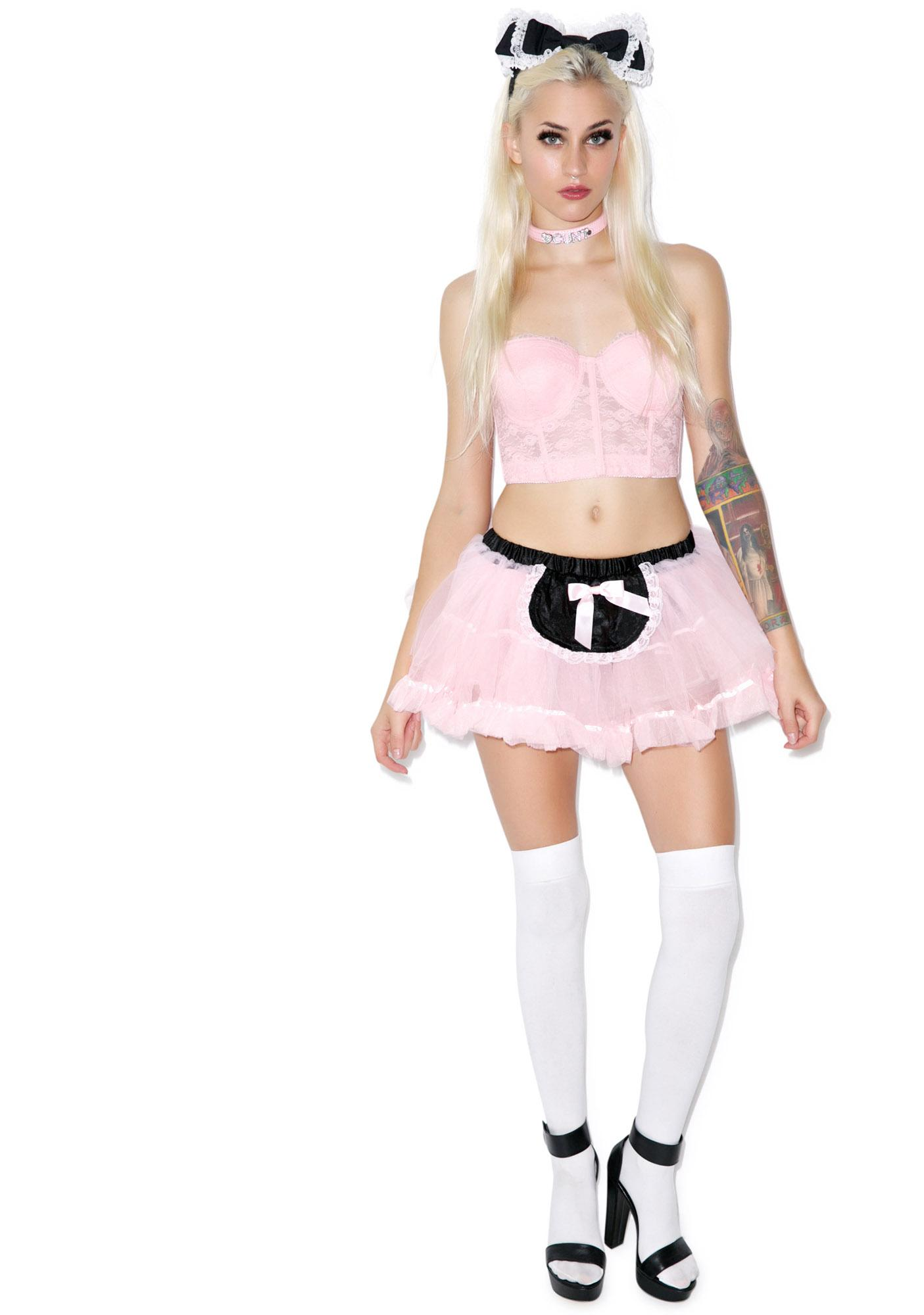 Lip Service Miss Frenchy The Maid Tutu Skirt