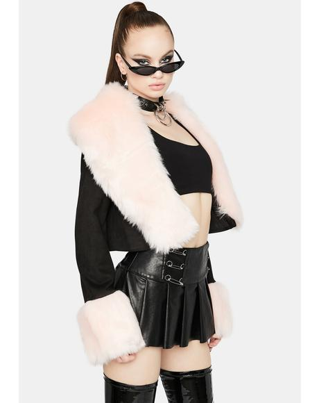Diva On My Bad Side Faux Fur Coat