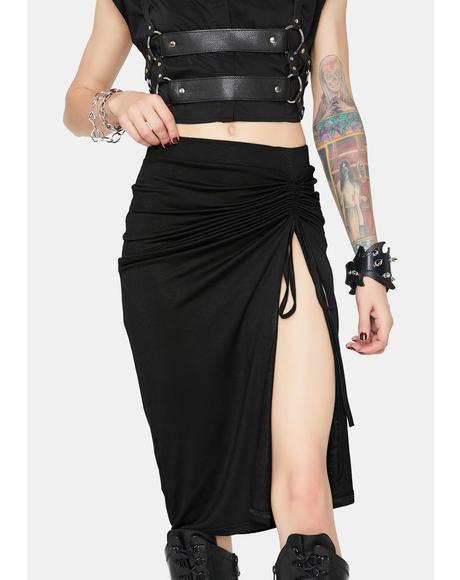 Right Path High Waist Split Skirt