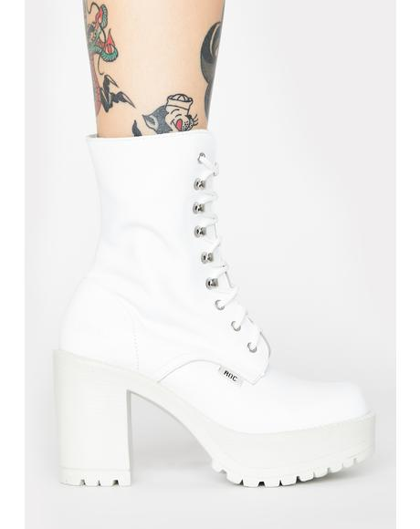 White Lush Ankle Boots