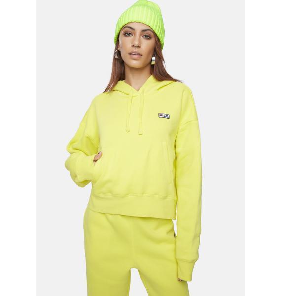 Fila Yellow Marina Hoodie