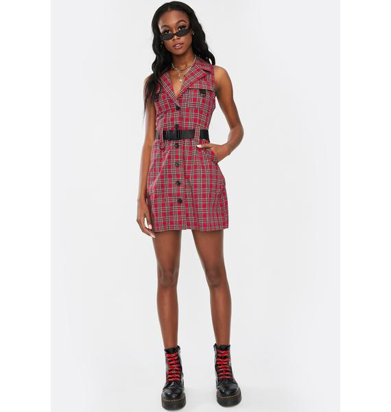 Nana Judy Valerie Plaid Utility Dress