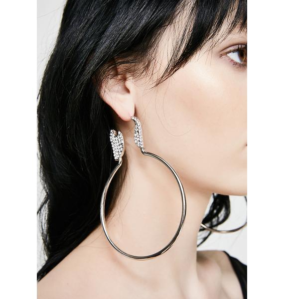 In A Flash Hoop Earrings