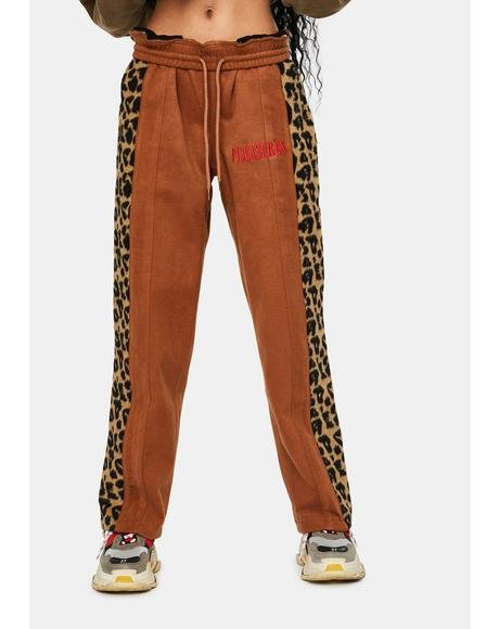 Memories Leopard Velour Pants